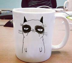 Grumpy cat cute mug One Size Ceramic 11oz sizes