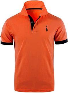 GLESTORE Herren Poloshirt Einfarbig Basic Kurzarm Polohemd M - XXL: Amazon.de: Bekleidung Polo Sport, Sport T Shirt, Le Polo, Camisa Polo, Polo Ralph Lauren, Shirts, Mens Tops, Orange, Fashion