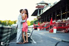 meghan & geoff's saratoga race course engagement shoot | Joe Elario Photography