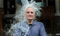 Description of . Stoic Minnesota Gov. Mark Dayton is doused with a bucket of ice water as he takes part in the ALS Ice Bucket Challenge outside the ESPN 1500 radio booth at the Minnesota State Fair in Falcon Heights on Thursday Aug. 21, 2014. The dare is sweeping the country and has raised more than $40 million for the ALS Association and raised awareness for Lou Gehrig's disease, also called amyotrophic lateral sclerosis, or ALS. (Pioneer Press: Jean Pieri)