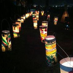 Candle night in Yashio, Tokyo