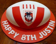 St George Footy Cake   by Cre8acake