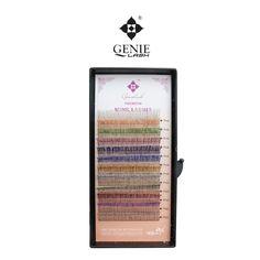 Genie 4pcs/lot 0.15mm J Curl 10mm/12mm Glitter Faux Eyelash Eyelash Extensions for Adorning Highlighting Beauty
