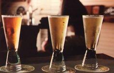 Beer tasting. 35mm film photography