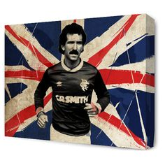The Blue Room — Graeme Souness Union Flag Canvas Rangers Football, Rangers Fc, Football Players, Graeme Souness, Union Flags, Blue Rooms, Chelsea Fc, Room Art, Glasgow