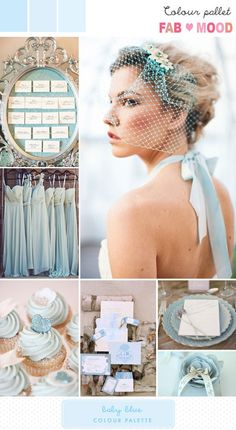 Pale blue, crisp and fresh with a wood or gold accent. Cool with a silver accent