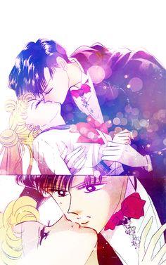 Manga Coloring: Sailor Moon: Serenity and Endymion by bakaprincess85.deviantart.com on @DeviantArt