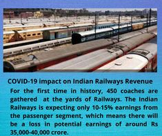 The Indian Railways is expecting only 10-15% earnings from the passenger segment, which means there will be a loss in potential earnings of around Rs 35,000-40,000 crore. Train Service, Long Distance, First Time, Indian, Long Distance Love