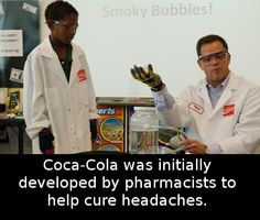 Did you know that Coca-Cola initially was advertised as a remedy for headaches? The famous beverage has been created in 1886 by a pharmacist from Atlanta named John Pemberton who claimed his product could be Did You Know Facts, Things To Know, The More You Know, Good To Know, Fact Quotes, Life Quotes, Wtf Fun Facts, Random Facts, Interesting Information