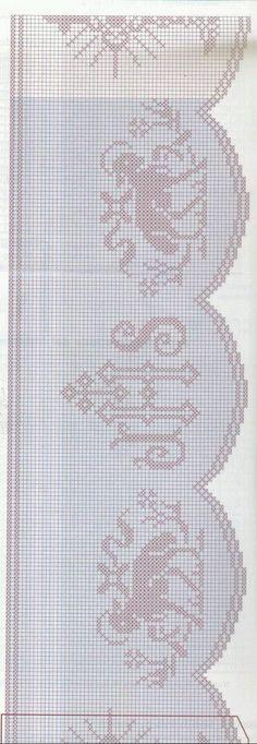 "Photo from album ""Muestras y Motivos on Yandex. Filet Crochet, Crochet Borders, Crochet Chart, Thread Crochet, Irish Crochet, Hand Crochet, Crochet Lace, Lace Patterns, Embroidery Patterns"