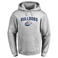 Samford Bulldogs Proud Mascot Pullover Hoodie - Ash - $64.99
