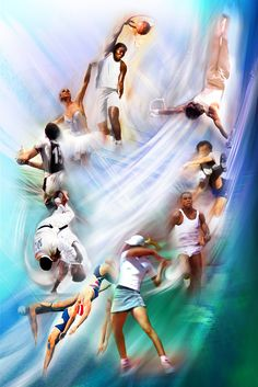 Sports Divers Colorful Wallpaper