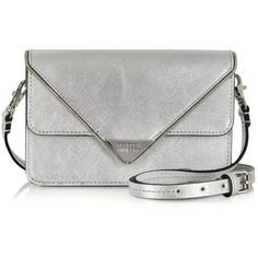 Rebecca Minkoff Metallic Sammy Crossbody (2 525 ZAR) ❤ liked on Polyvore featuring bags, handbags, shoulder bags, bolsos, leather crossbody, handbags crossbody, purse crossbody, leather man bags and white leather shoulder bag