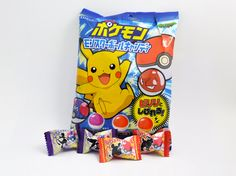 Pokeball Hard Candy in Grape, Cola, and Spicy Cola Flavors. Guess the Pokemon on each candy! (Answer under flap.) Each bag contains approximately 15 pieces...