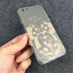 Use as a mirror Mickey and Minnie Mouse Choose Gold his hers PU Mobile Phone Cases Cover For iPhone 5 5G 5S 6 6G 6S 4.7 6Plus 5.5 Inch