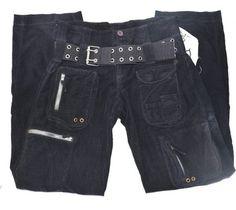 PETE & GRETA JOHNNY WAS Cargo Pants BLACK #PETE&GRETA #JOHNNYWAS #CARGOPANTS #CARGO NEW!
