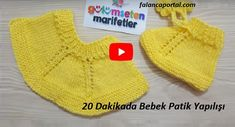 Baby Boots in 20 minutes - Knitting 2019 - 2020 Baby Booties Knitting Pattern, Knit Baby Booties, Baby Boots, Baby Knitting Patterns, Baby Patterns, Crochet Decoration, Baby Sneakers, Knitted Gloves, Hobbies And Crafts