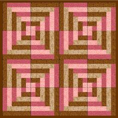 'Pink and brown strip quilt'.  (Option: variation of brown and blue strips) follow link to measurements and instructions