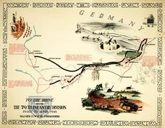 Th Infantry Division Of The US Army Rolling W Route And - Us army ww2 maps