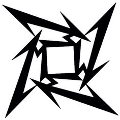 "The Metallica ""M"" throwing star.always thought this would be a neat tattoo, especially since it's my initial also. M Tattoos, Star Tattoos, Tribal Tattoos, Sleeve Tattoos, Tattoos For Guys, Metallica Tattoo, Metallica Art, Metal Bands, Rock Bands"