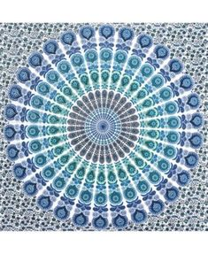 The Loni Wall Tapestry by WallPops! will become the focal point and style inspiration to decorate a room. A bold blue and teal medallion is designed in small scale floral prints and Mehdni motifs that come together to form this awesome artwork. Wall Sheets, 2018 Christmas Gifts, Tapestry Online, Blue Bedding, Mens Gift Sets, Flower Prints, Wall Tapestry, Kids Room, Outdoor Blanket