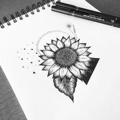 Fresh WTFDotworkTattoo Find Fresh from the Web Sunflower order #graphicbyd #minimalist #minimalistdesign…