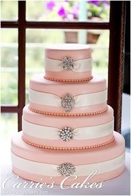 The Pink Callie #Wedding Cake by Carries Cakes