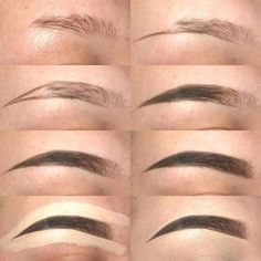 From thinning eyes to eyebrows. This door Von dünner werdenden Augen bis zu den Augenbrauen. Dieses Tutorial hilft Ihnen dabei, fantastisch auszusehen … From thinning eyes to eyebrows. This tutorial will help you look awesome … - Eyebrow Makeup Tips, Beauty Makeup, Eye Makeup, Makeup Eyebrows, Eye Brows, Eyebrow Wax, Eyebrow Stencil, Makeup Hacks, Beauty Nails