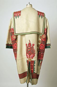 Szur (coat) from Hungary - the Hungarian crest is embroidered into the design
