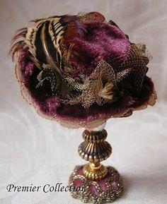 Premier Collection...Unique 12th scale miniature hats by Miss Amelia