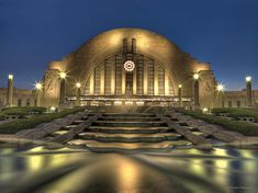 Opened in 1933 as a train station, Cincinnati's Union Terminal is now home to three museums, an archive, and an Omnimax theater!