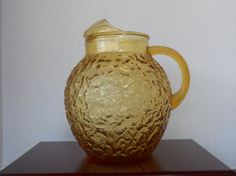 Vintage 1960's Anchor Hocking Lido Ball Pitcher