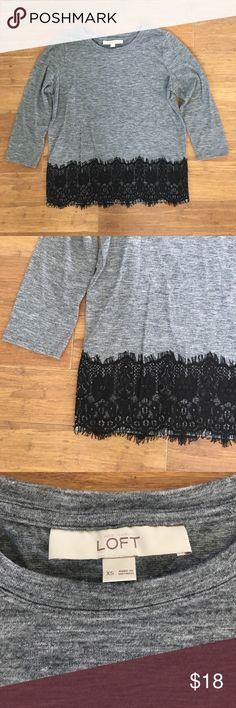 J. Crew Black & Grey Lace 3/4 Sleeve Shirt -Size S J. Crew Black & Grey Lace 3/4 Sleeve Shirt. Great condition. J. Crew Tops Tees - Short Sleeve