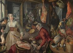 Joachim+Beuckelaer--The+Four+Elements.-+Fire.+A+Kitchen+Scene+with+Christ+in+the+House+of+Martha+and+Mary+in+the+Background.gif (1600×1163)