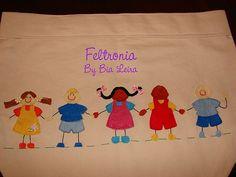 Crianças by Feltronia by Bia Leira, via Flickr
