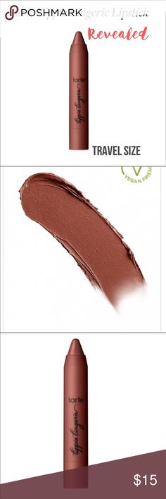 TARTE Lippie Lingerie in REVEALED Travel Size Tarte Lippie in Revealed. New no box and unused. Travel Size 0.6oz. Full Size is 0.10oz which retails at 24$ just to give you an idea of size and value. Mango seed butter skin conditioner that helps moisturize, protect and smooth dry lips. Includes cupuacu and murumuru butters with Pro Vitamin A for elasticity and soothing feeling for lips. Please let me know if you have any questions. Bundle discounts. No trades! Reasonable offers considered…