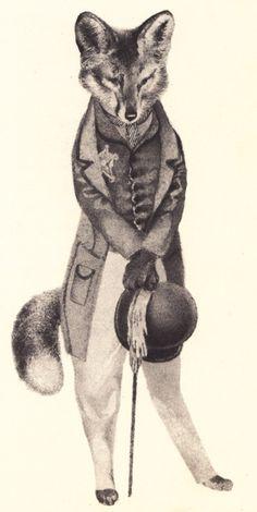 animals in edwardian attire.