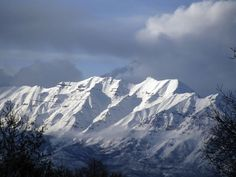 Timpanogos Fell in love with Utah when I first saw this beautifully rugged snow capped mountain standing against a clear, bright blue sky on an April morning in 1984