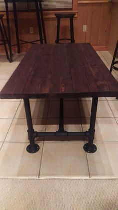 Custom rough sawn pine coffee table