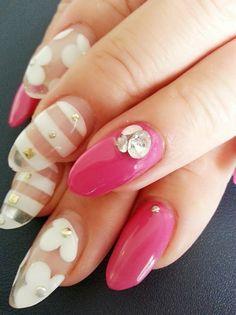 クリア&ピンク!!|Nails Heart(ネイルズ・ハート) スタッフの毎日日記