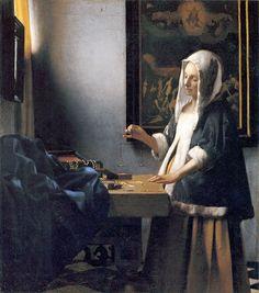 Woman-with-a-balance-by-Vermeer - Johannes Vermeer — Wikipédia