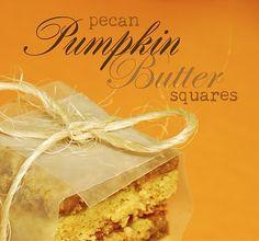 Pecan Pumpkin Butter Dessert Squares