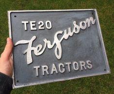 #antique Ferguson Tractors RARE TE20 Large Metal Sign please retweet