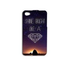 Shine Bright Like A Diamond Cute Rihanna Quote iPhone Case Beautiful Phone Cover