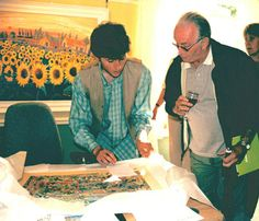 John Dyer Signing Eden Project Official Prints at Beside The Wave Gallery