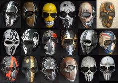 Army of two mask day custom by Onimaru Paintball Mask, Airsoft Mask, Character Inspiration, Character Art, Army Of Two, Tactical Helmet, Horror Masks, Cool Masks, Military Gear