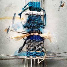 weaving blue 1 Elizabeth Bunsen