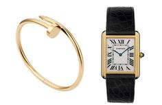 The ultimate classics. Cartier juste un clou bracelet and tank watch.