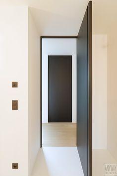 Porte intérieure moderne noir toute hauteur