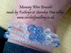 Memory Wire Bracelet made by Kathryn at Swindon New College.  www.verchieljewellery.co.uk